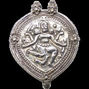 Antique Rajasthan Indian Silver Kali Pendant