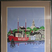 Nantucket Art by Eric Holch - Silkscreen Wharves at Dawn