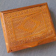 Teakwood Carved Dresser Box