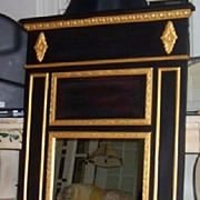 Trumeau Mirror in Black Base Coat Gold Leaf
