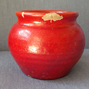 Pottery Pot in Red Vintage Glaze