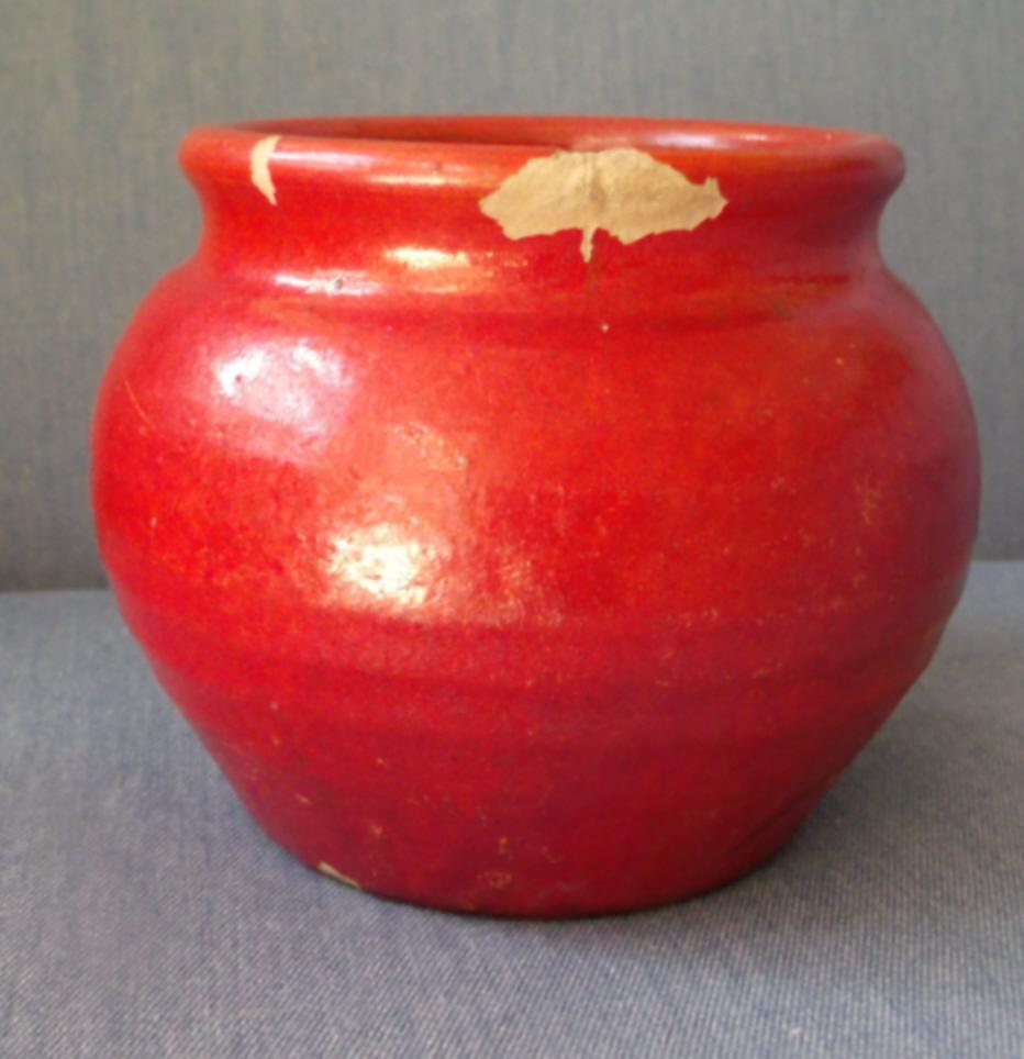 Pottery Pot in Red Vintage Glaze
