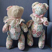 Bear Couple Dressed in Florals