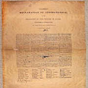 Civil War Documents-Declaration of Independence -Texas-History-Parchment