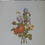 Provost Artist-A Trio of Watercolor Floral Litohgraphs