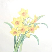 Narcissis Floral Lithograph