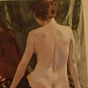 Nude Lady Watercolor by Tore Asplund Artist