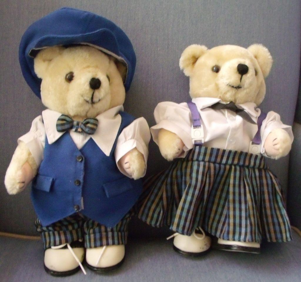 Girl and Boy Stuffed Bear Toys
