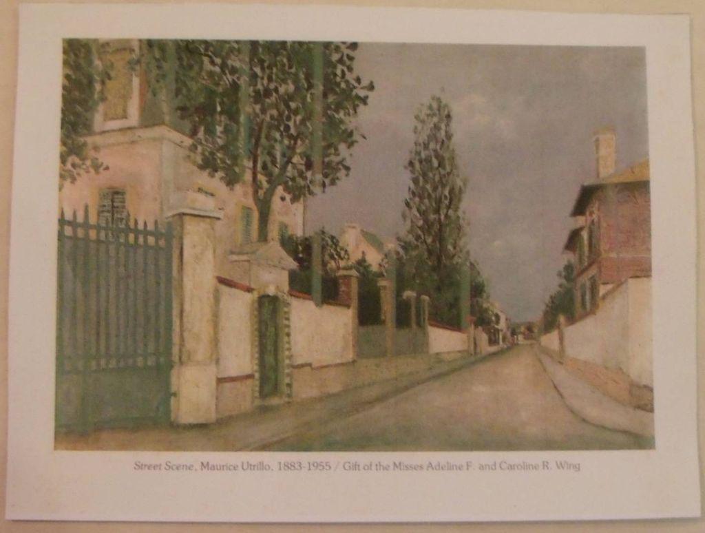 Utrillo-Street Scene-Lithograph