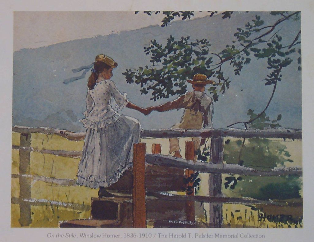 Winslow Homer-On the Stile