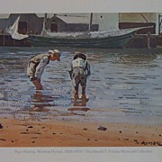 Boys Wading by Winslow Homer-Watercolor Painting