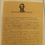 The Gettysburg Address on Art Parchment