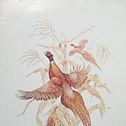Bird Lithograph - Pheasants