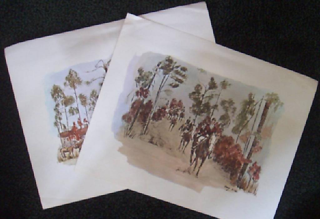 Hunting Prints-Watercolor Fox Hunt by Nancy Wilds