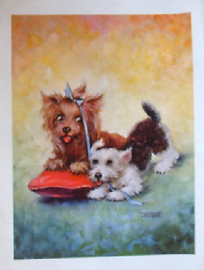 Animal Cats And Dog Prints By Florence Kroger From