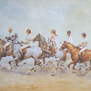 """Riding in the Breeze"" A Wolfgang Tritt  Vintage Watercolor"