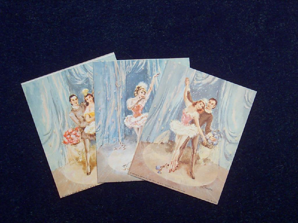Lenore Artist Ballerina Lithographs circa 1950