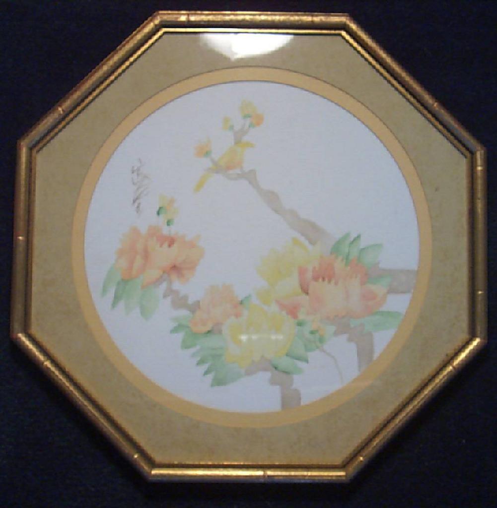 Oriental Floral Lithograph