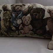 Bear Pillows-Set of Three Needlepoint