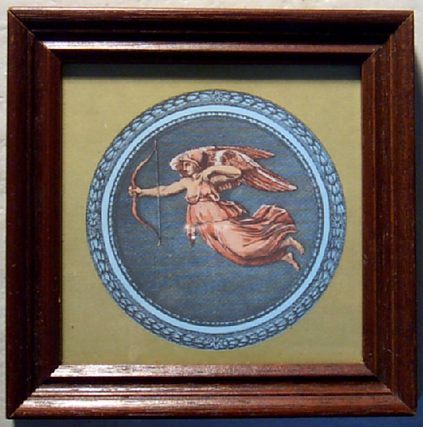 Greek Art-Framed Print-Blue Art-Miniature