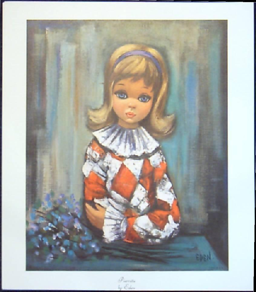 Children Sad Eyed Portraits-Eden Lithographs