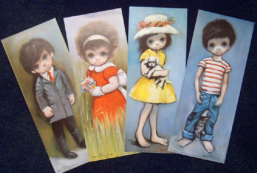 Frangas-Big Sad Eyed Children Lithographs