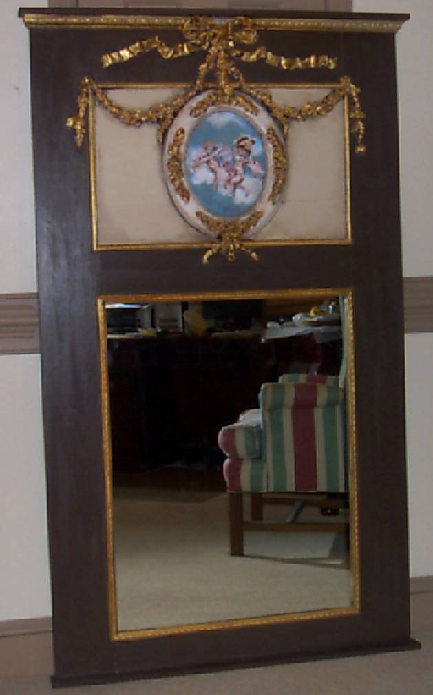 Trumeau Mirror with swags