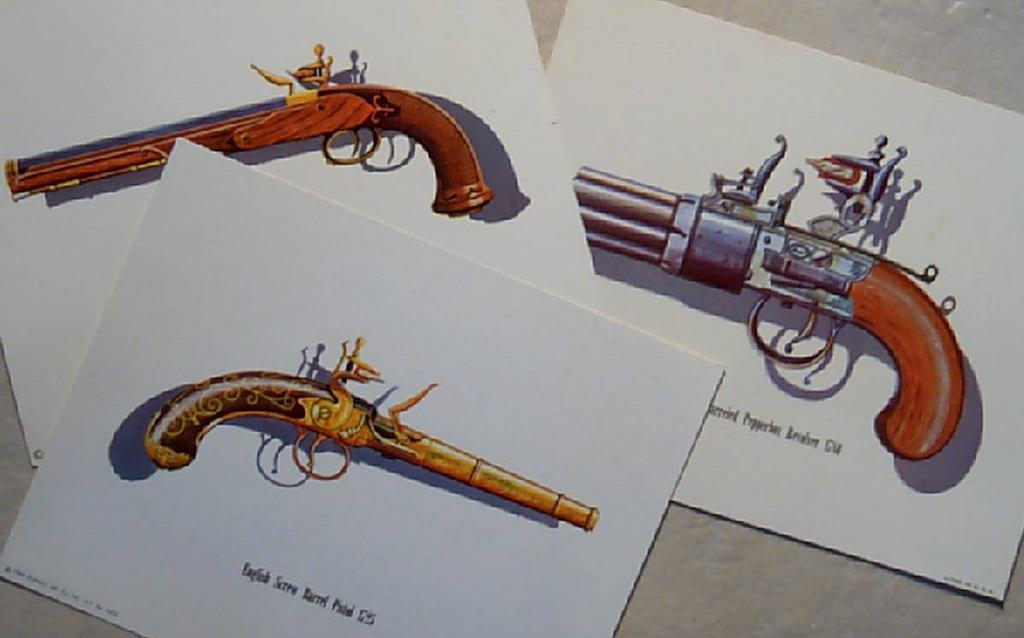 Gun Lithographs