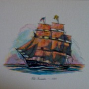 Ship Engravings-Marine Art-Sailing Vessels