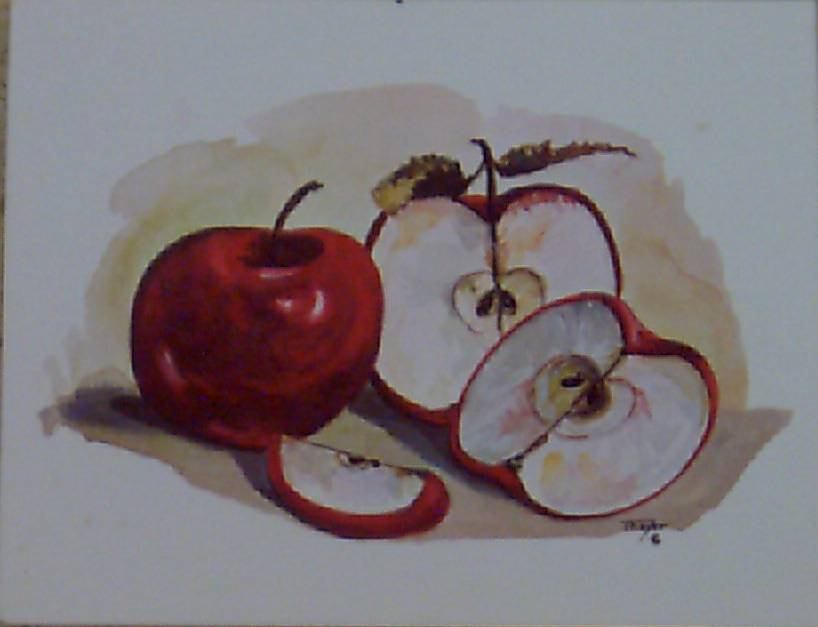 Apples Decoupage Print