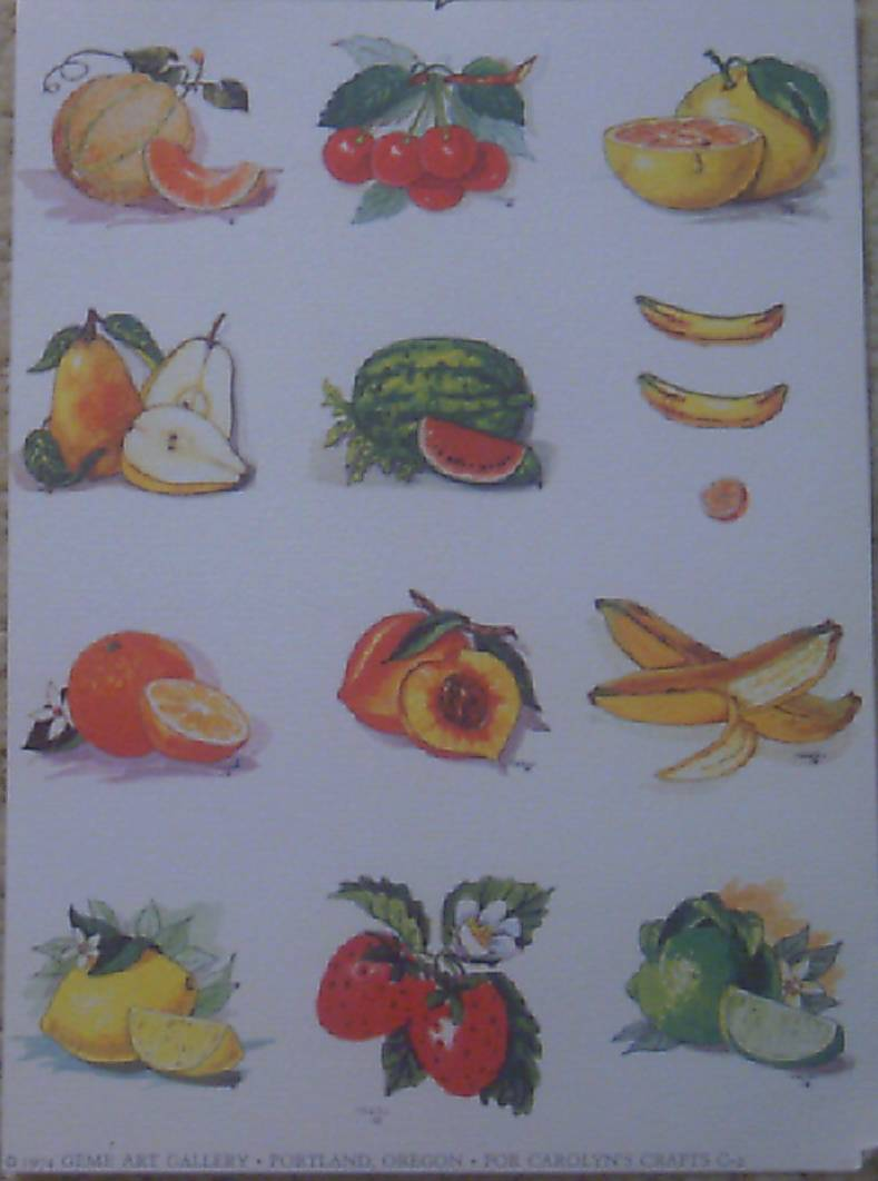 Fruits Sheet