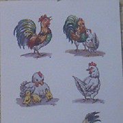 Chicken Decoupage Print