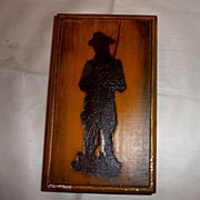 Silhouette Soldier on Wooden Storage Box