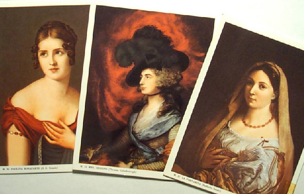 Portraits of Classic Ladies-Bonaparte-Gainsborough-Sanzio