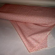 Calico Pink Floral Vintage Fabric