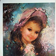 "Vintage Children's Portrait ""Captivating"" by Runci"
