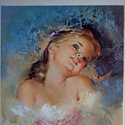 "Vintage Children's Portrait ""Fancy Free"" by Runci"