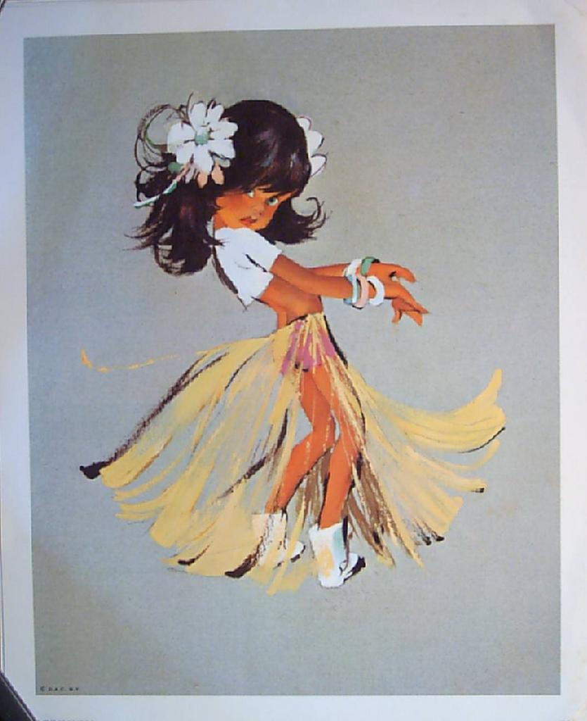 Big Eyed Sport and Recreation Children-Vintage Lithographs