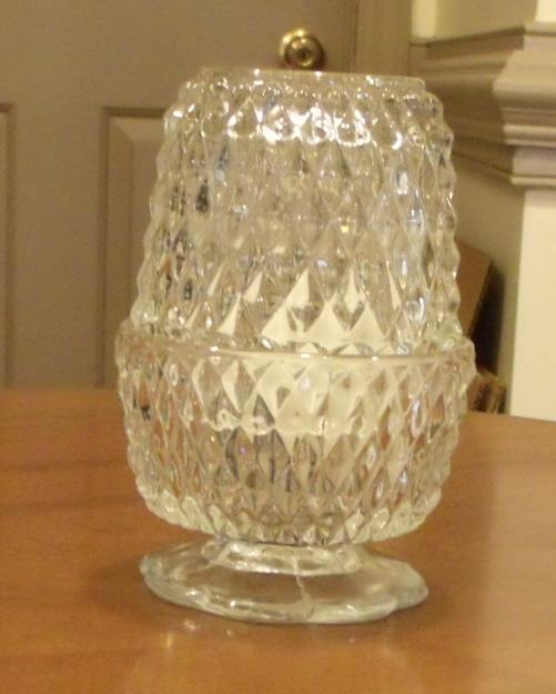 Luminere Candle Holder in Diamond Point Crystal