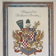 Coat of Arms-German City Lithograph