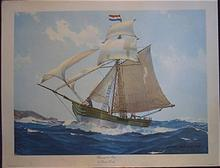 """Marine Ship Lithograph """"Blessing of the Bay"""" by Hunter Wood"""