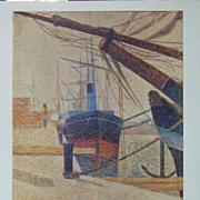 Seurat Lithograph In Honfleur Harbour