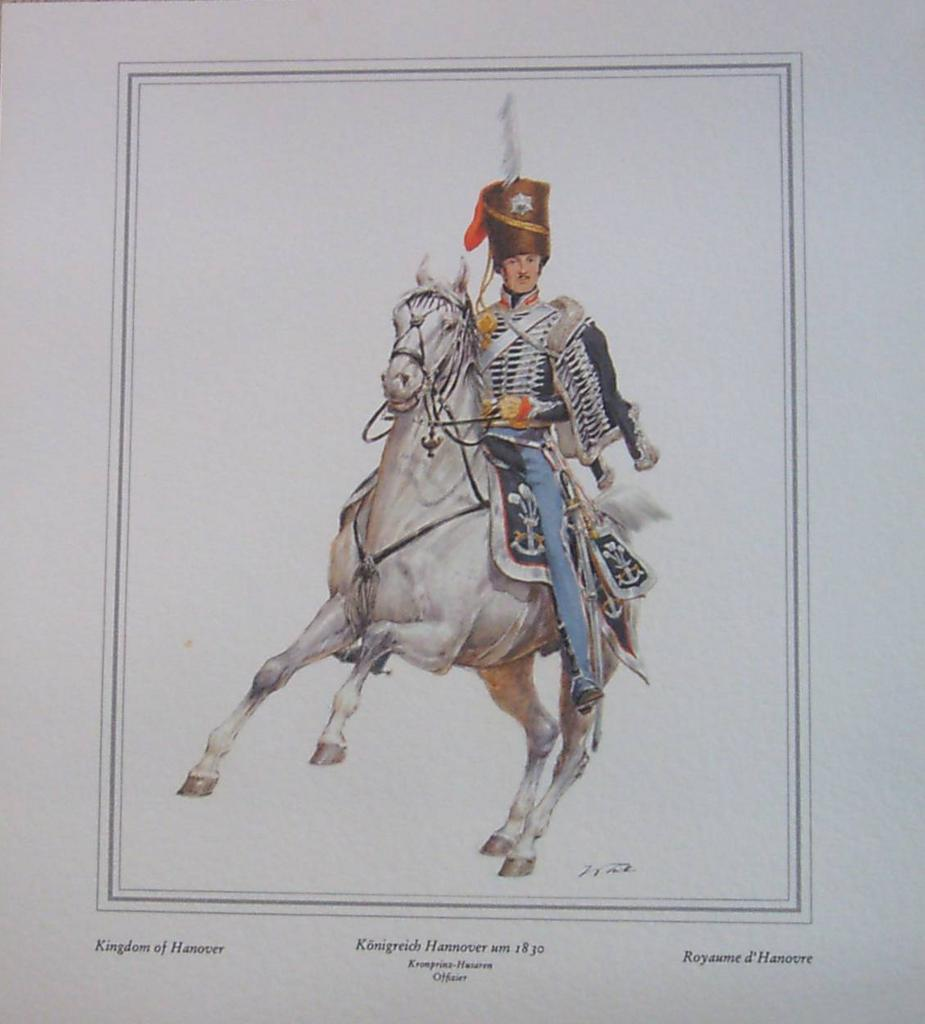 Officer-Soldier on Horse Print-Kingdom of Hanover