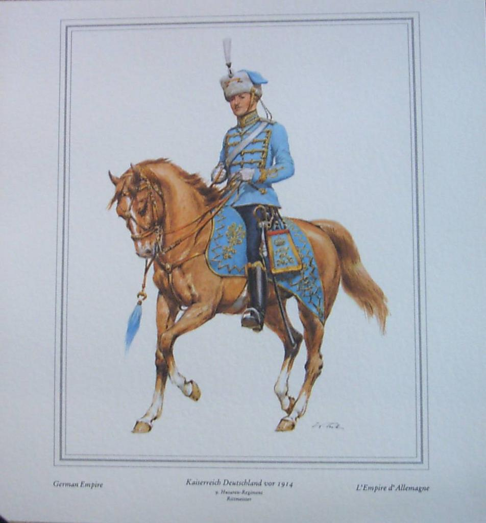 German Empire Soldier Officer in Dress Uniform
