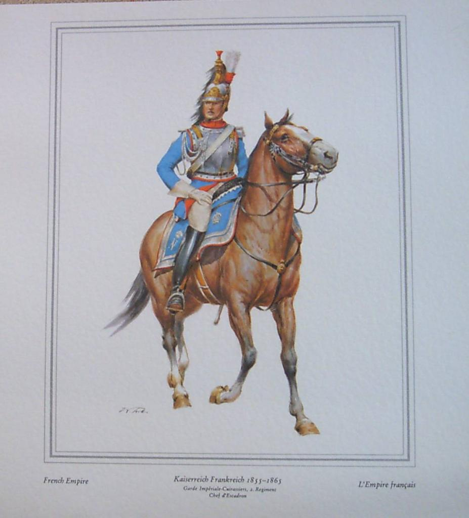 Vintage Lithograph-French Empire Officer Soldier-Lithograph