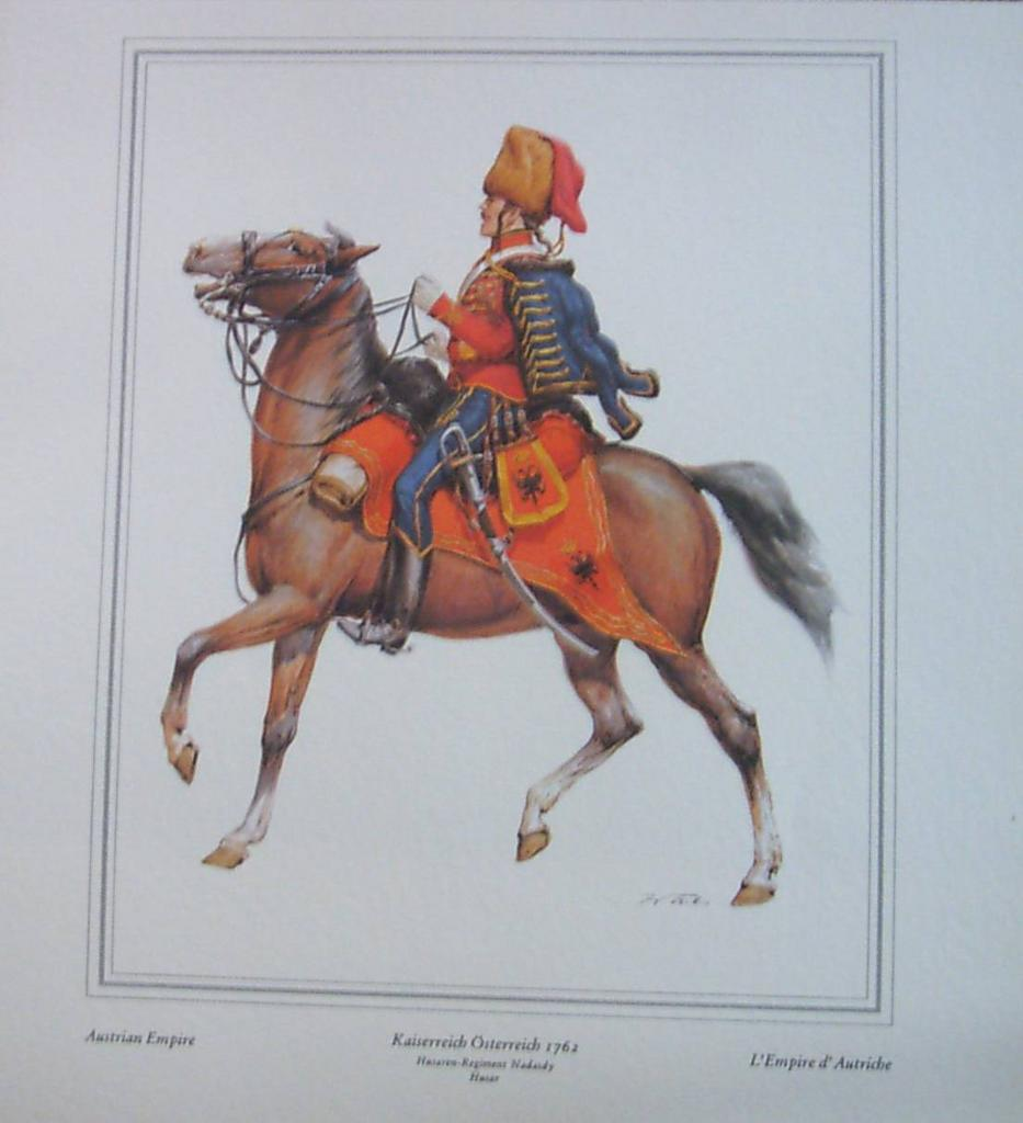 Soldier Officer-Austrian Empire-Lithograph