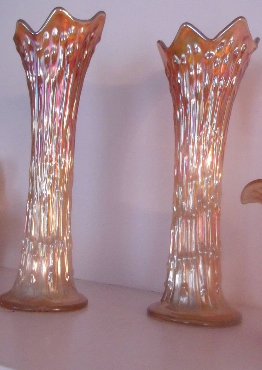 Carnival Glass Vases From Carolines Collectibles On Ruby Lane