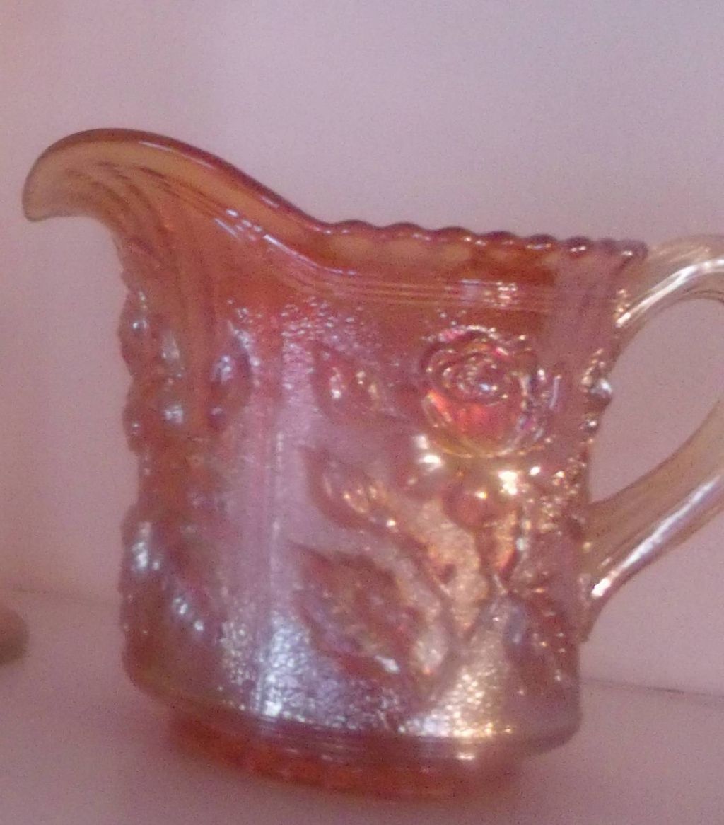Carnival Glass Milk Pitcher
