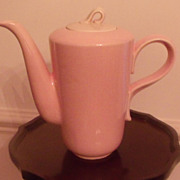 Jubilee Pink Pottery Pitcher-Homer Laughlin