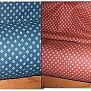 Calico -Vintage 1970 Ruffled Curtain Materials-Calico Fabrics